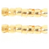 3 Cut Beads 10/0 Silver Lined Gold
